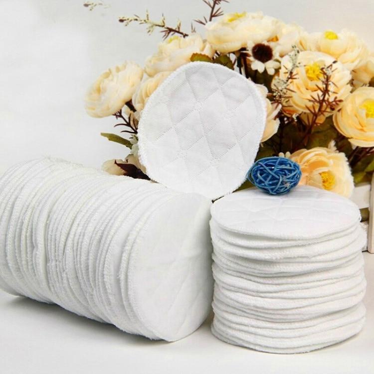 Многоразовые моющиеся мягкие впитывающие водонепроницаемые прокладки для грудного вскармливания A1A66, грудные прокладки для кормящих хлоп...