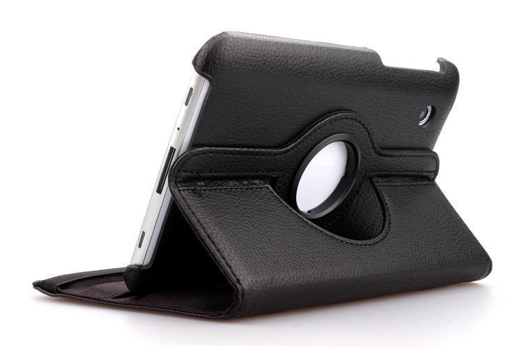 Funda de cuero de PU con soporte de Litchi giratorio de 360 grados funda para Samsung Galaxy Tab 2 7,0 GT-P3100 P3100/P3110/P6210/P6200 + película + bolígrafo