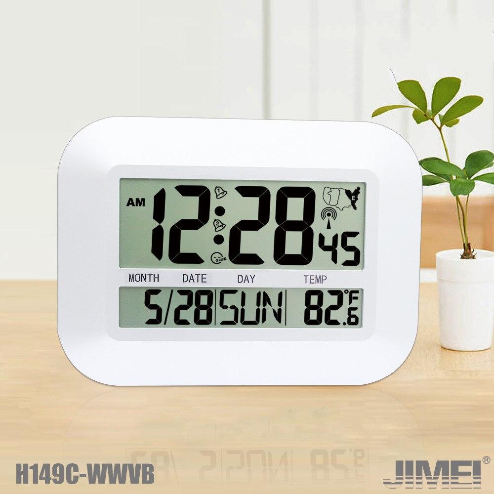 Horloge murale/Table numérique JIMEI H149C-WWVB horloge radiocommandée USA avec calendrier de température dalarme Snooze pour usage domestique