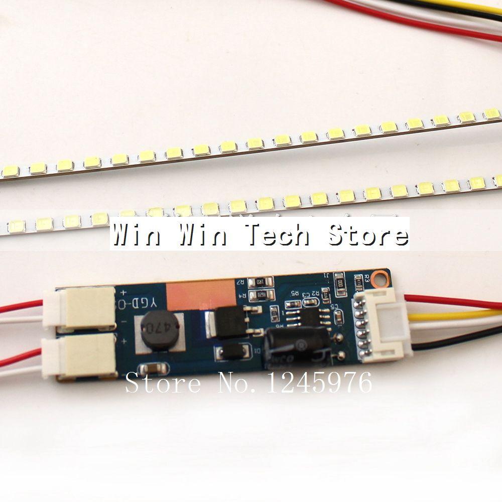 19 pulgadas Panel ancho LED luces de fondo actualización CCFL a tiras LED 2x + Driverboard 420mm Kit de brillo ajustable