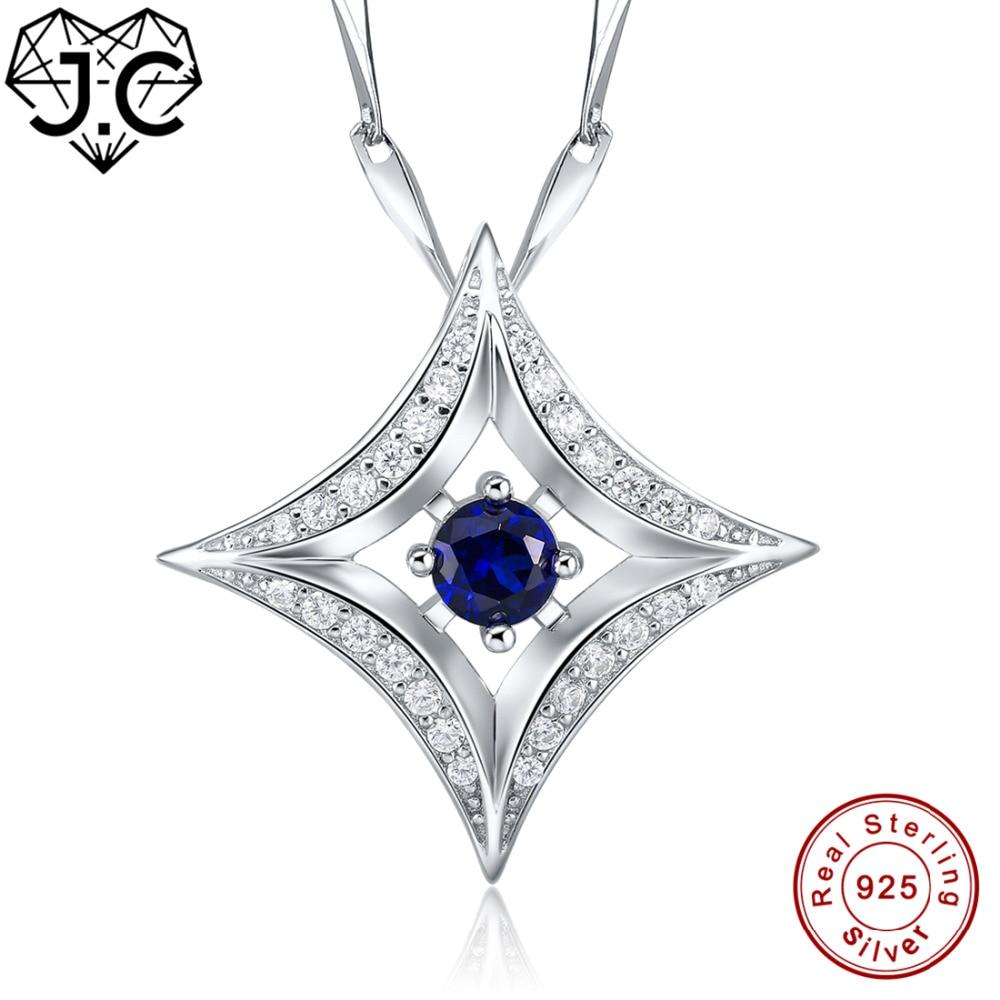 J.C para señora excelente collar de citas corte redondo arco iris y zafiro Topacio Azul sólida plata 925 colgante joyería fina