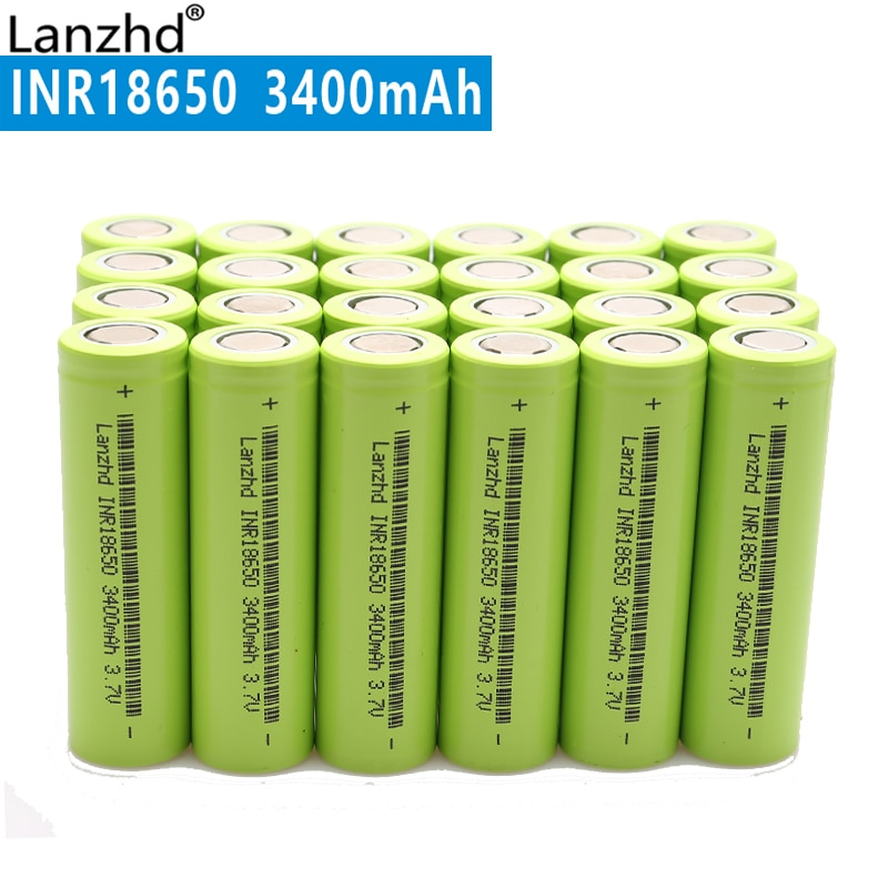 24 PIÈCES 2020 Nouveau Original 18650 30A 3400mAh INR18650 Rechargeable au lithium 18650 Batterie 3.7 V pour Batterie Ordinateur Portable