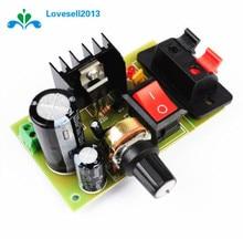 LM317 DC 5V-35V Kit de bricolage abaisseur Module dalimentation ca/cc régulateur de tension réglable avec interrupteur marche/arrêt livraison gratuite