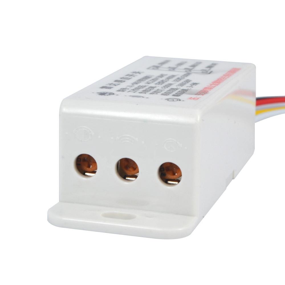1 STÜCK AC220V Schalter Mikrowelle Radar Körper Sensor-schalter Lichtschalter Verzögerung Abstand Ist Einstellbar Aktive Komponenten Sensoren