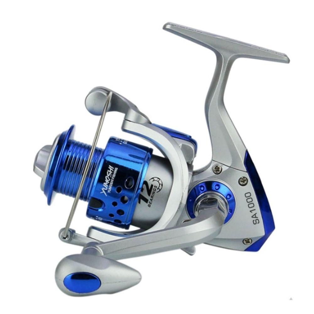 Yomoshi SA1000-7000 Serie Angeln Reel Spinning Carbon Drag Ultraleicht Süßwasser 6BB Spin Kunststoff mit Metall Rocker Arm