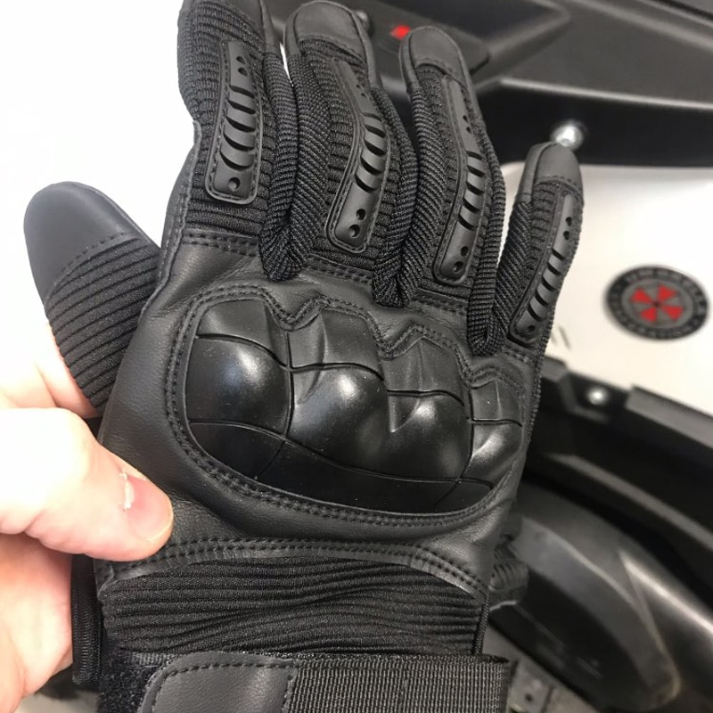 Touch Screen PU Leather Motorcycle Gloves Motocross Protective Gear Motorbike Racing Hard Knuckle Full Finger Glove Men Women enlarge