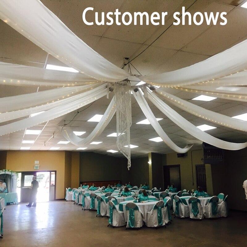 ستارة سقف الزفاف المسطحة ، ستارة الحفلات ، ديكور قاعة الولائم ، مظلة السقف ، فكرة زخرفة الفندق ، 2ftx32ft