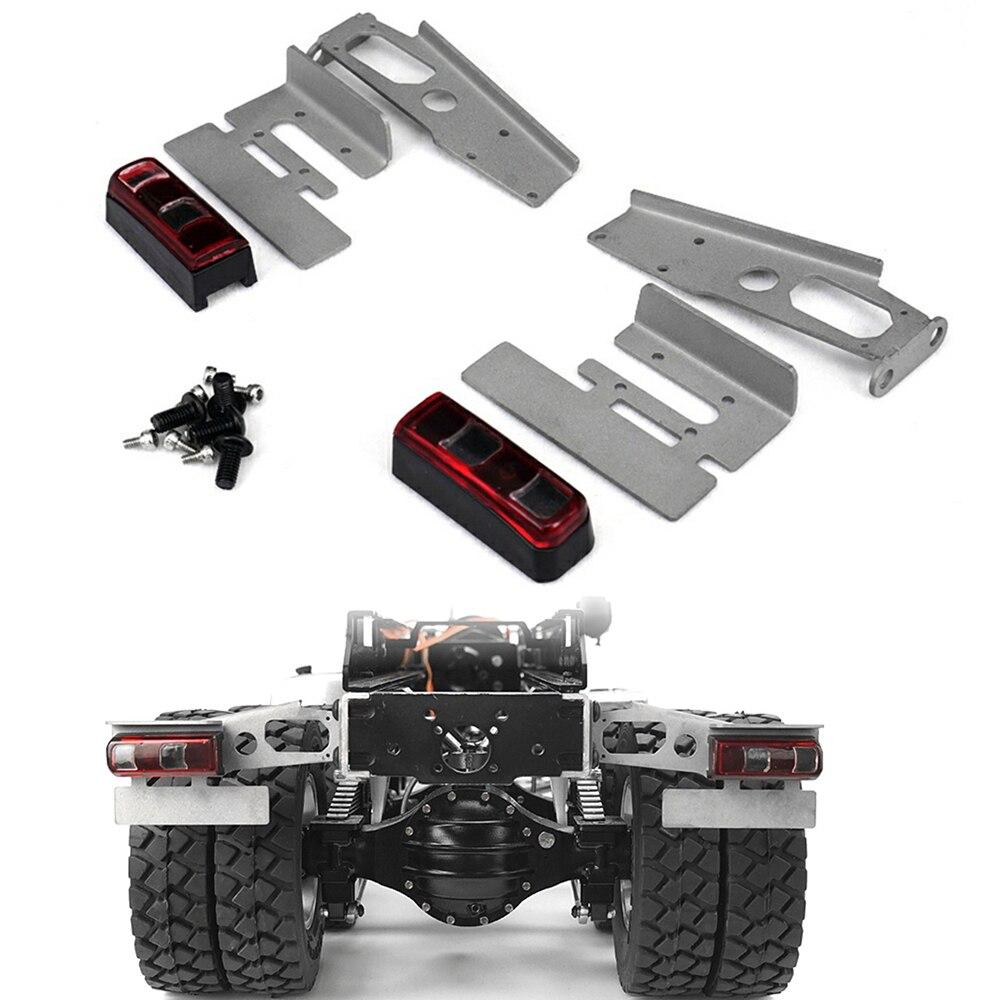 Kit de feux arrière en métal pour Benz tracteur camion voiture remorque modèle pièces de mise à niveau pour TAMIYA 1/14 RC voiture accessoires de bricolage
