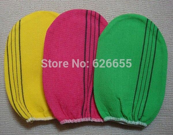 Free shipping 50 pcs/lot italy towel korea glove viscose scrub mitt body scrub glove kessa mitt exfoliating tan glove (normal)