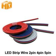 Accessoires déclairage de fils de 2pin 4pin 5pin 6pin pour la connexion simple de bande de couleur/rvb/RGBW LED, 1 m/lot