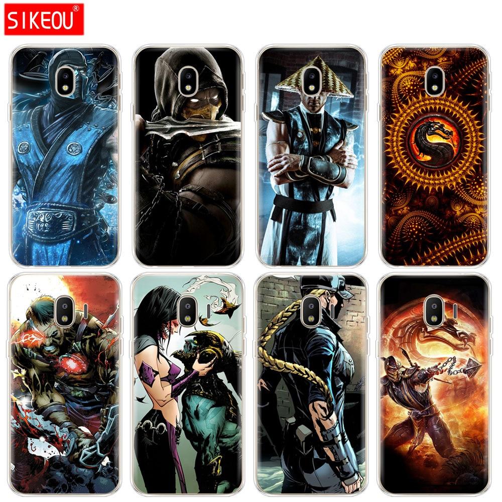 silicone cover phone case for Samsung Galaxy J3 J5 J7 2017 J330 J530 J730 PRO j2 2018 Scorpion Sub Zero Mortal Kombat x
