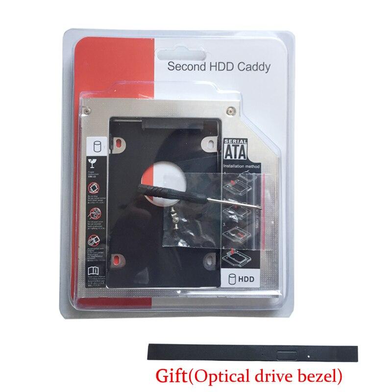 Disco Duro SSD HDD 12,7 MM 2nd HD Caddy para Toshiba Satellite Pro C805 C850 L830 L850 L855 A665-S5199X (bisel de unidad óptica de regalo)