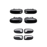 8pcs black exterior chrome interior door handle for hyundai matrix 01 lavita 01