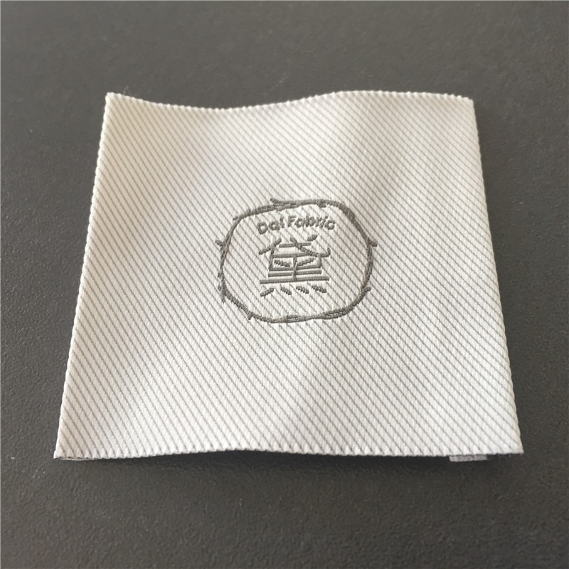 Custom High Density Taffeta End Fold Woven Labels Clothing Main Labels Garment Labels