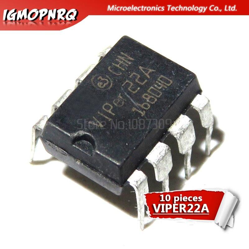 10 Uds VIPER22A VIPER22 DIP-8 AC/DC convertidores bajo-la línea S original nuevo