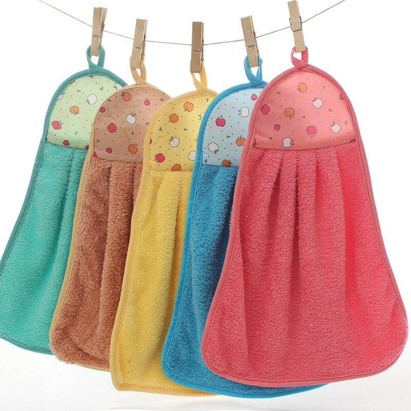 25x38 см Коралловое бархатное полотенце для рук, милое мультяшное полотенце из микрофибры для ванной, мягкое Впитывающее кухонное полотенце д...