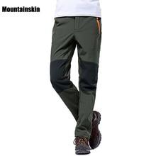 Alpinskin 4XL pantalons dhiver pour hommes Sports de plein air Softshell pantalon polaire randonnée Camping Trekking Ski pantalon imperméable VA042