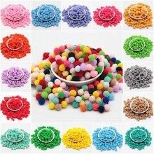 8mm DIY Pompom 480pcs Soft Colorful Pompons Party Wedding Fuffy Pom Poms Ball Decoration Handmade Sewing on Cloth Accessory 20g