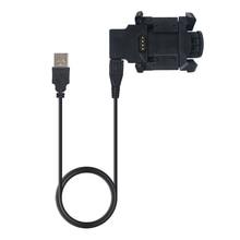 ALLOYSEED 1m base de carga USB estación de acoplamiento con Cable de datos USB sincronización cargador Clip titular para Garmin Fenix 3 HR reloj inteligente