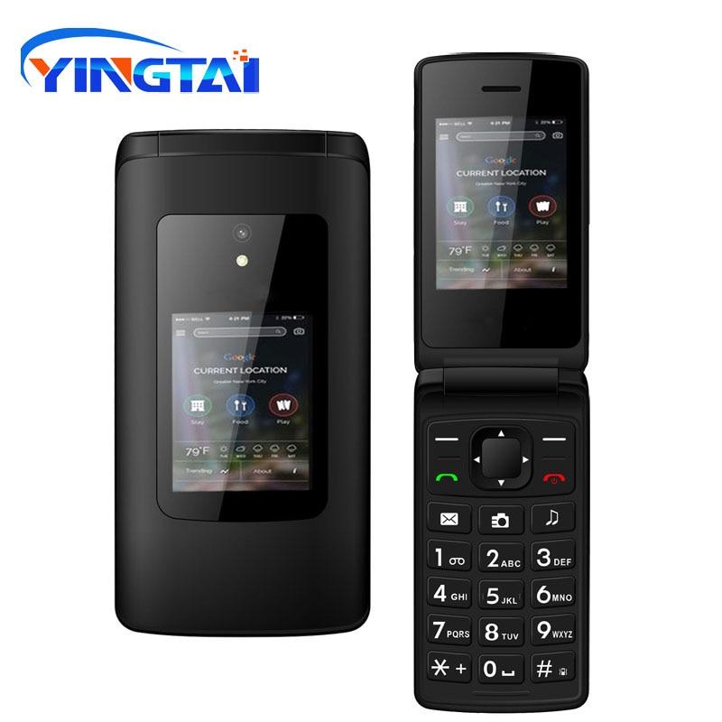 Neue Günstige Dual-Screen Flip Senior Telefon Dual SIM Karte Push-Taste Tastatur Telefon FM Radio Funktion Clamshell Handy T30 GSM