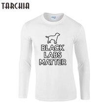 TARCHIA 2018 marque pull black labs matter nouveaux hauts T-Shirt Swag hommes vêtements Hiphop t-shirts à manches longues T-Shirt coton Plus