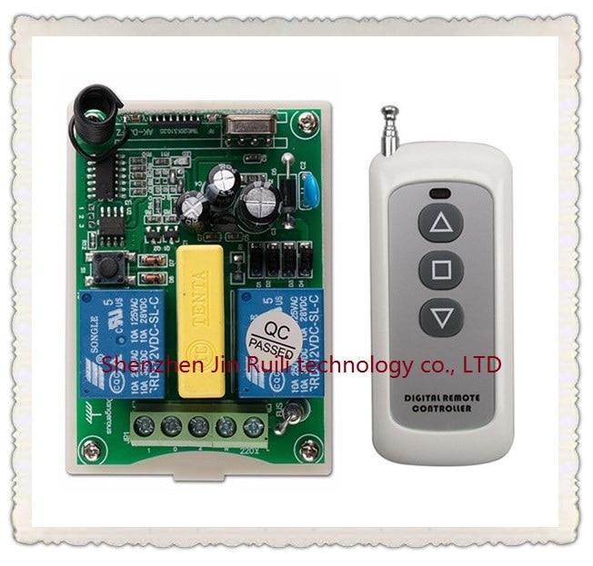 Новый AC 220V 2 CH 2CH RF беспроводной пульт дистанционного управления мотор положительный и отрицательный переключатель система 1X передатчик + 1 X ...