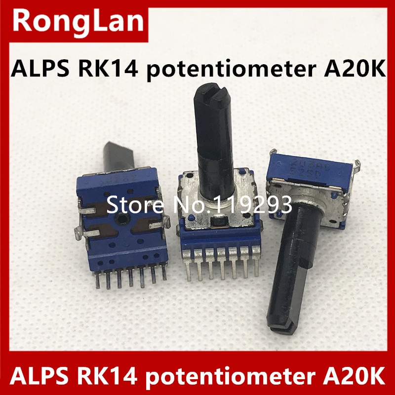 1pc alps 27 type 50k a knurl shaft amp volume potentiometer with pcb board [BELLA]ALPS RK14 type potentiometer shaft A20K A203 7foots  203A 23MM--10PCS/LOT