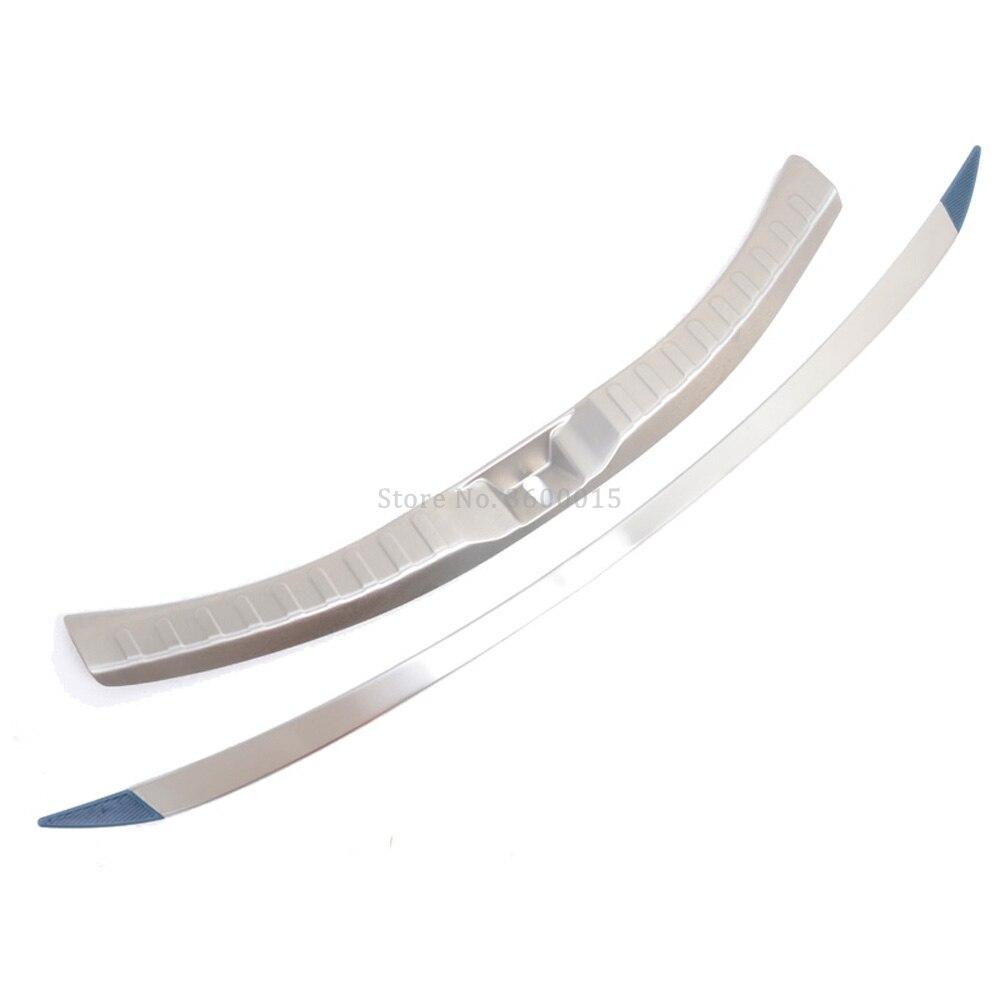For Toyota RAV4 RAV 4 2016 2017 Stainless Steel Inner+Exterior Rear Bumper Foot Plate Tail Gate Door Sill Scuff Guard Cover Trim