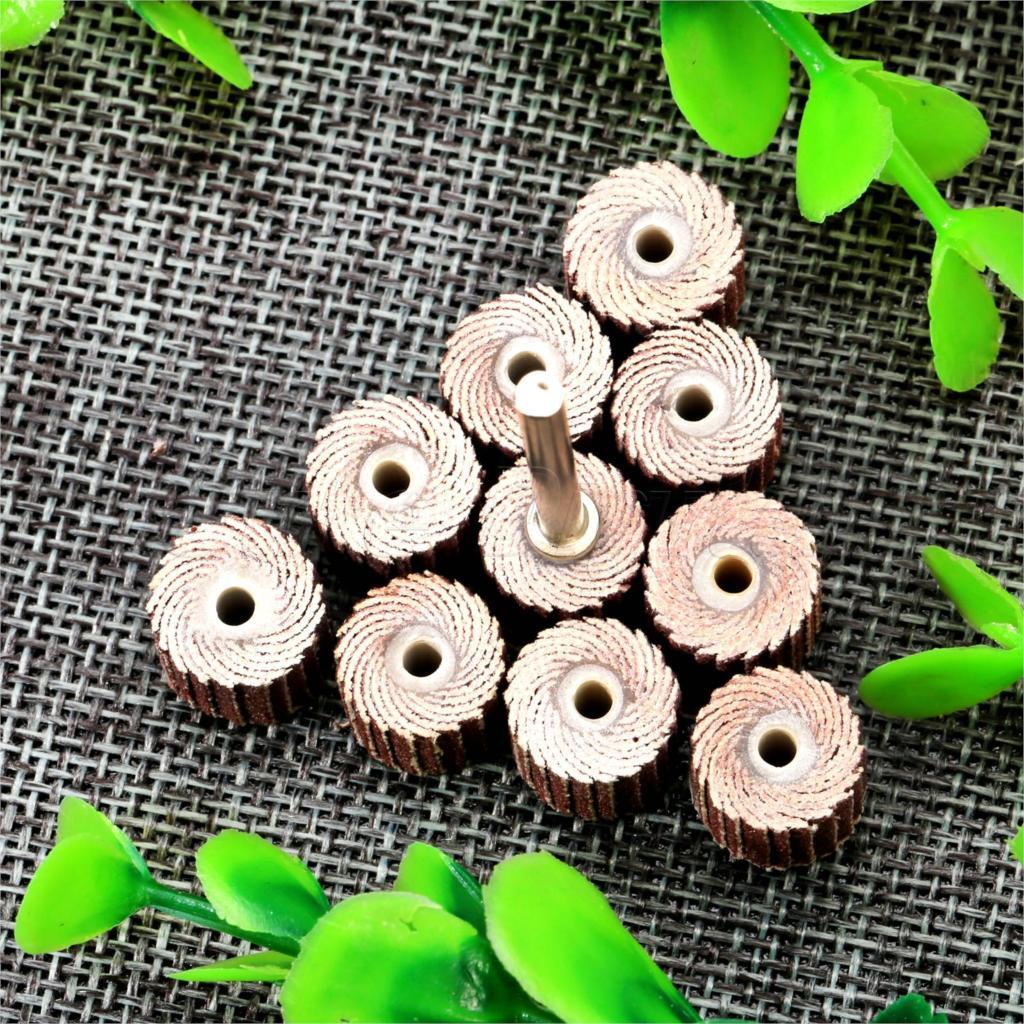 10 piezas Dremel accesorios 240-grano lijado disco de solapa lijado - Herramientas abrasivas - foto 2