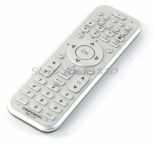 14in1 Control remoto inteligente Universal con función de aprendizaje para TV CBL DVD SAT DVB venta al por mayor y Dropship