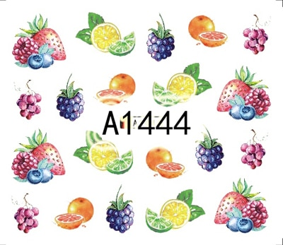 Arte de uñas pegatina calcomanías de agua de frutas de fresa uñas Slider Pegatinas de decoración DIY accesorios manicura de envolturas de lápiz