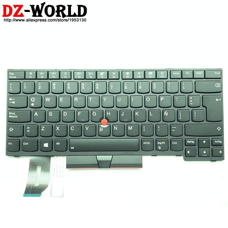 New Oirginal Latin Spanish Backlit Keyboard for Lenovo Thinkpad E480 E490 T480S L480 T490 T495 L380 L390 Yoga L490 P43s Laptop