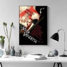 V for Vendetta Movie TV Poster Wall Art Wall Decor Silk Prints Art Poster Paintings for Living Room