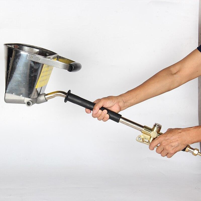 Pneumatic cement mortar spraying machine, internal external wall mortar spraying Air Stucco sprayer Plaster hopper gun Wall tool
