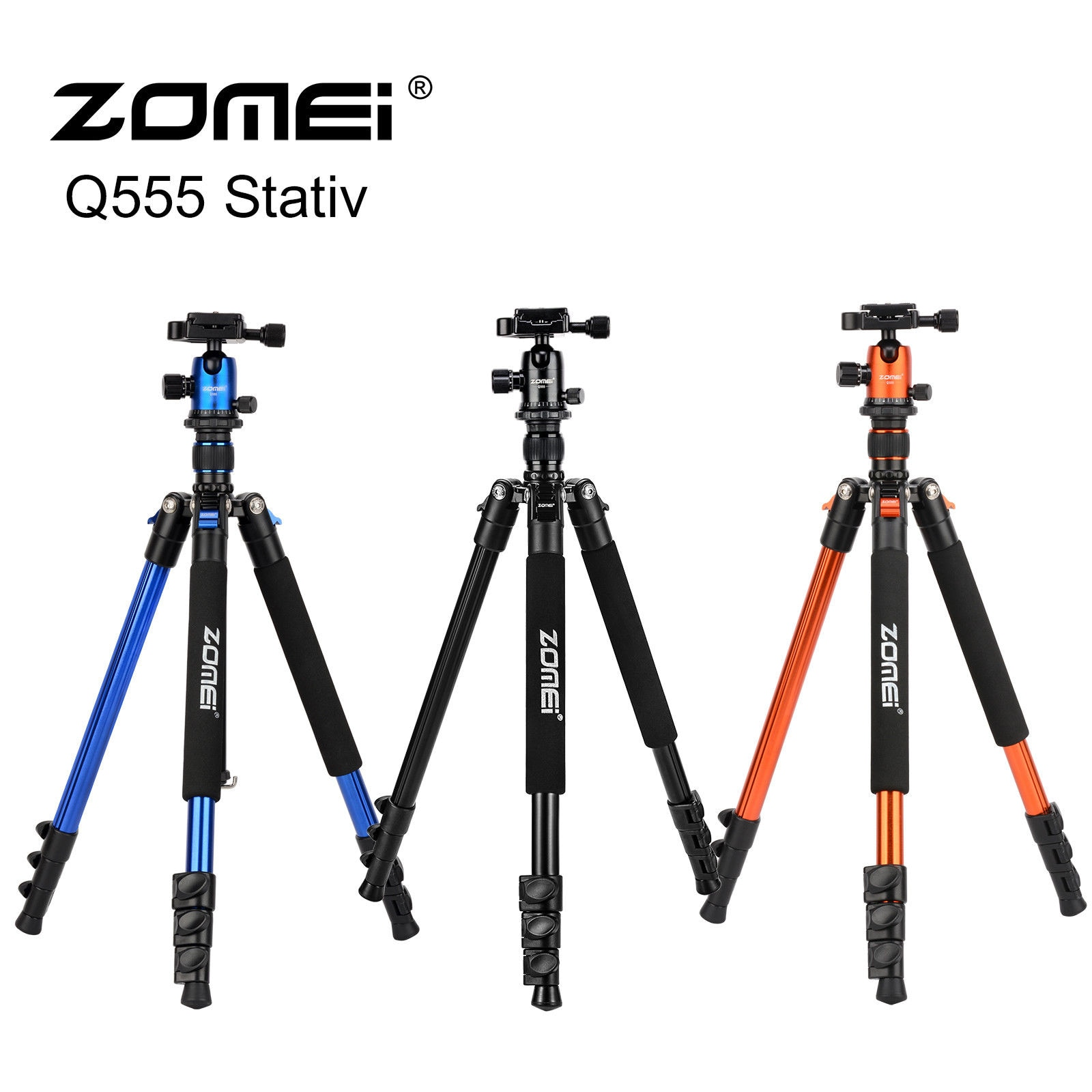 Zomei Professional Q555 Camera tripod Lightweight Aluminum Camera Tripod Stand with Ball Head for Canon Nikon Sony DSLR camera enlarge