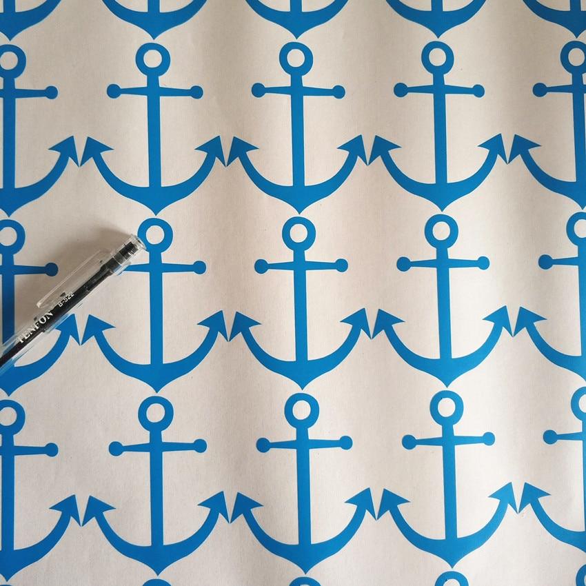 16pcs/set nautical Anchor vinyl Sticker for kids room decoration