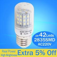Ampoule LED E14 E27 B22 LED ampoule de maïs lampe CE ROSH économie dénergie chandlier lampe en cristal 6W 8W