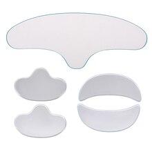 Anti enrugamento conjunto de almofada facial reutilizável grau médico silicone testa nasolabial dobras máscara anti-envelhecimento evitar rugas faciais