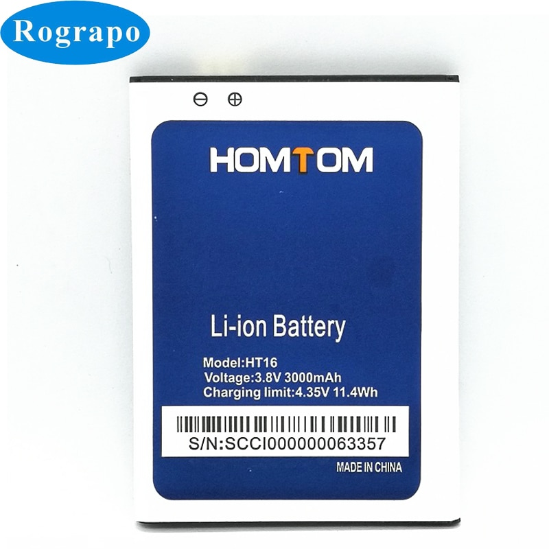 3000mAh HT16 Replacement Battery For Homtom HT 16 Pro Bateria Baterij Cell Mobile Phone Batteries недорого