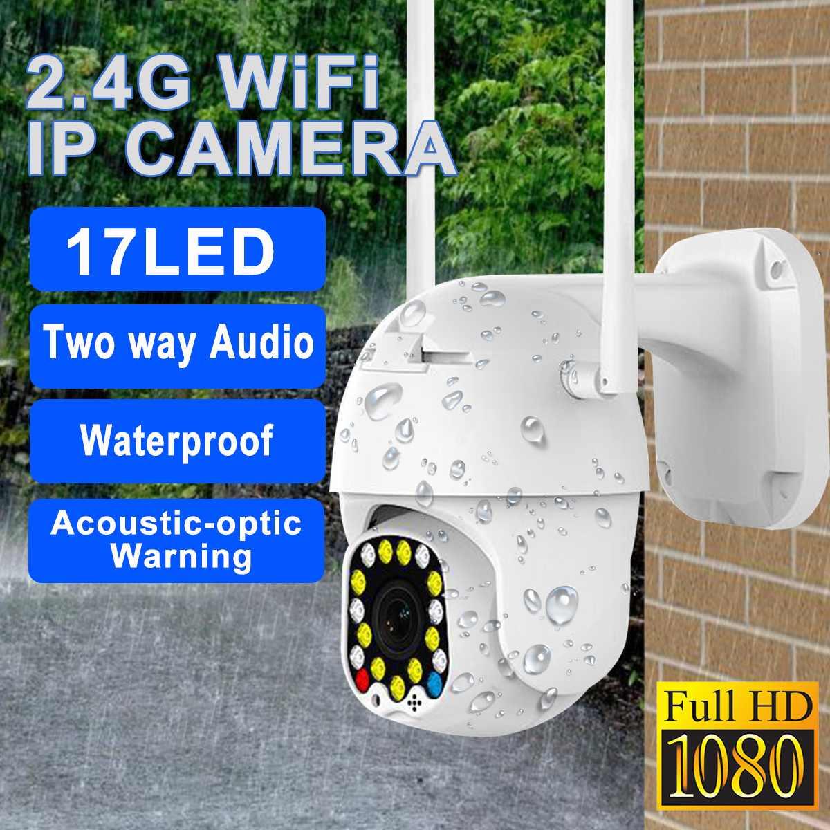 2.0MP HD 1080P cámara IP PTZ 17 LED IP Pan Tilt IR cámara de seguridad impermeable Wifi Cámara