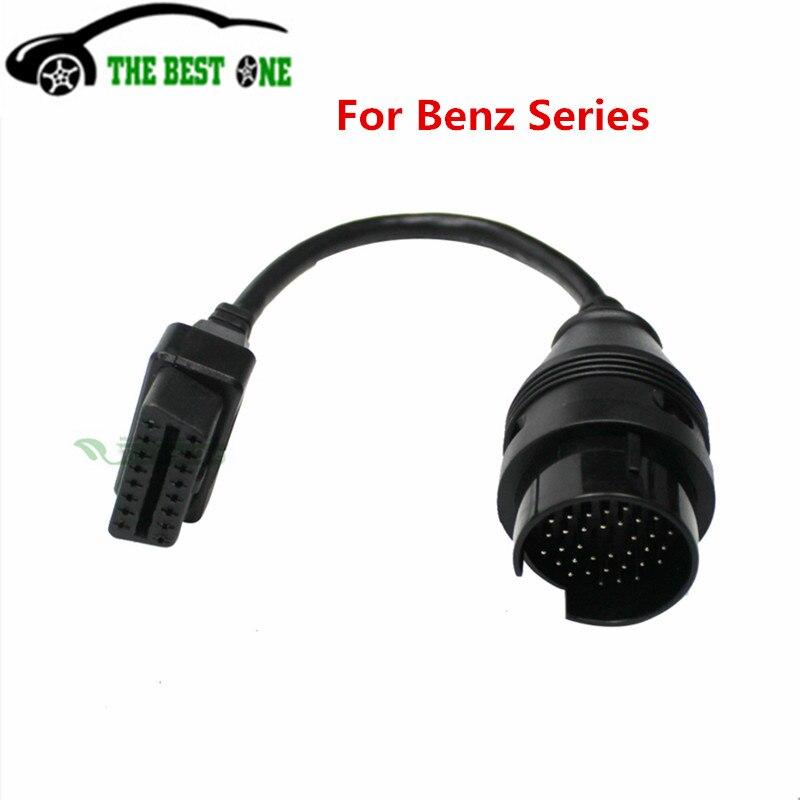 A + + + качество для Benz 16 Pin к 38 Pin OBD 2 Кабель-адаптер для Mercedes 38Pin разъем MB 38 Pin OBD2 Диагностический кабель OBDII
