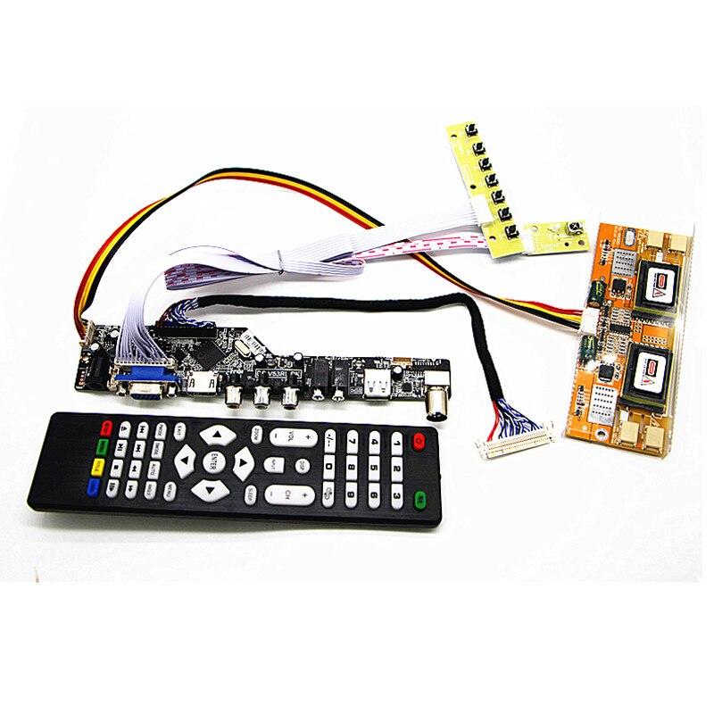 """TV + HDMI + VGA + AV + USB + audio de TV LCD Placa de controlador 21,5 """"M215HW01 V0/LM215WF1 TLG1 1920*1080 placa controladora LCD kits DIY"""