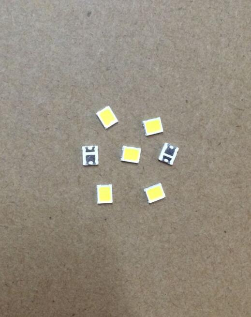 100 unids/lote 2835 SMD LED perlas blanco 3V 1W 100LM 6000-6500K
