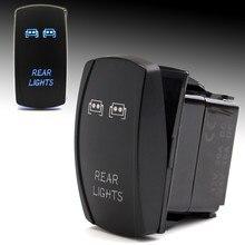 ON-OFF Rocker Switch For Polaris RZR 900 1000 XP4 Backlit LED Rear Light Waterproof Rocker Toggle Switch For UTV/Boat/Car