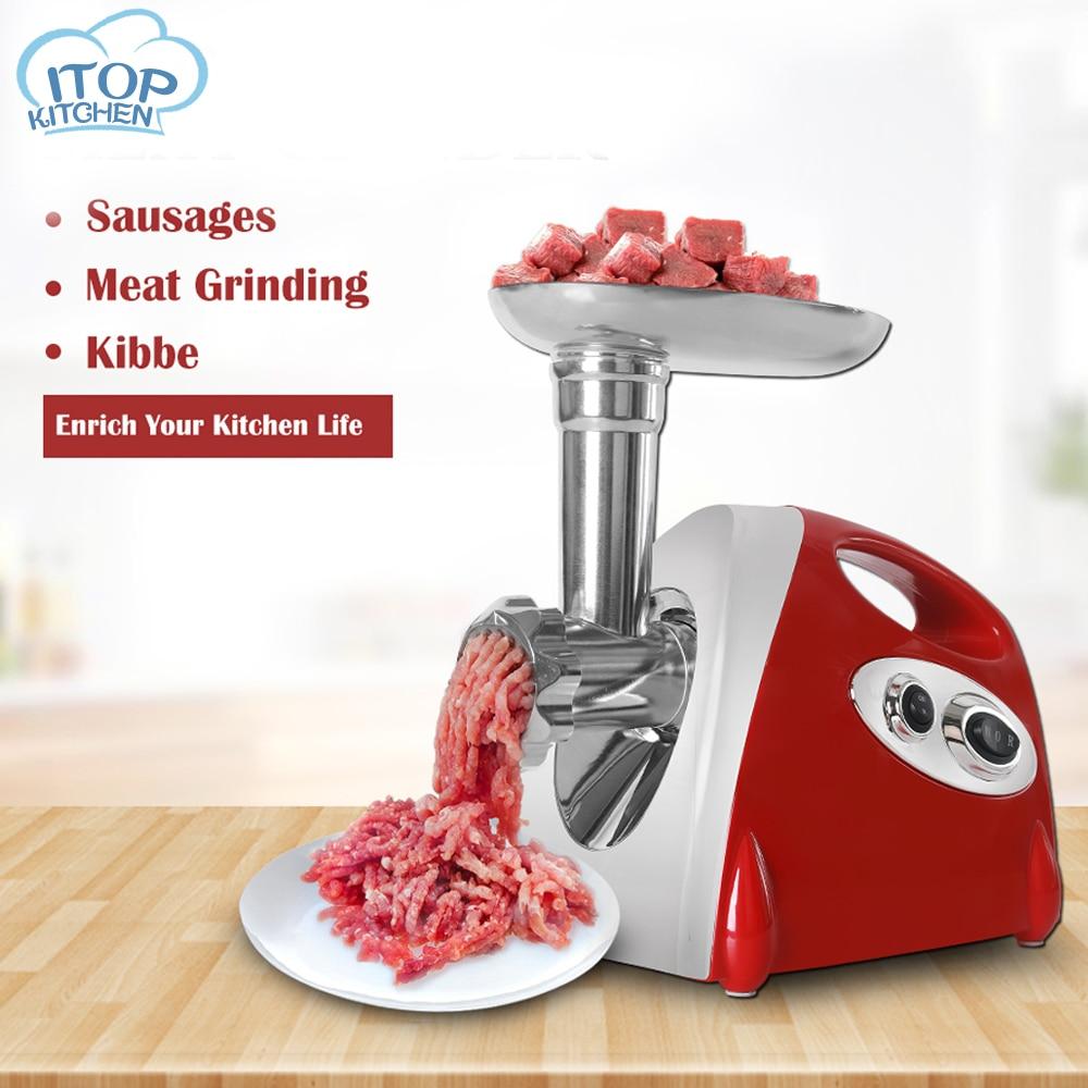 Uso doméstico moedor de carne nova 110v-220v-240v salsicha máquina almôndega fabricante picador três placas de moagem cozinha processador de alimentos