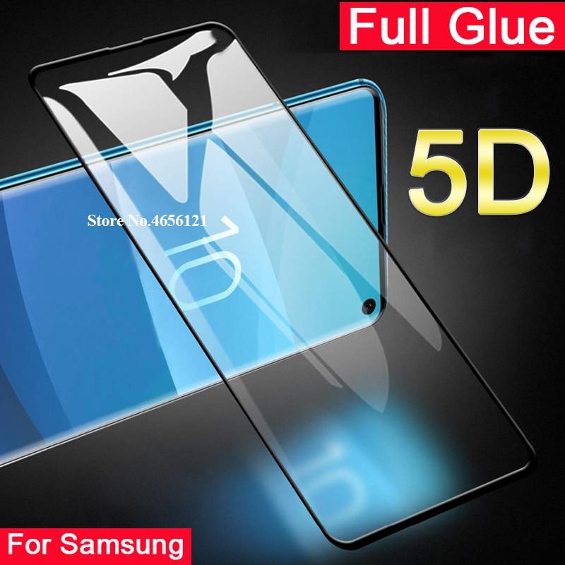 5D закаленное стекло с полным клеем для Samsung Galaxy s10 e s10e s 10 plus lite Полное покрытие Защитная пленка для экрана Galaxy s10plus