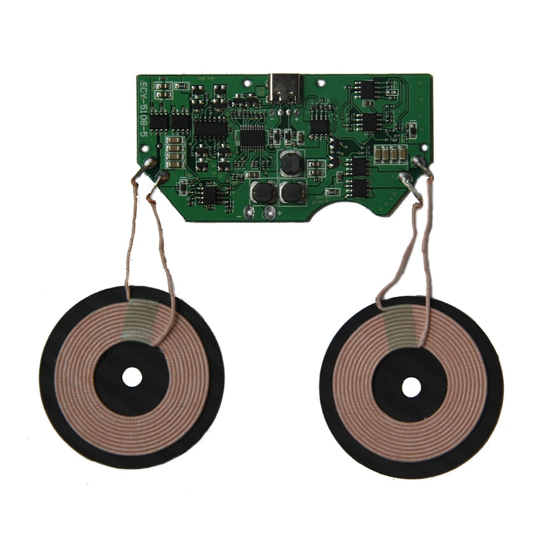 1Set/lot Double charge fast wireless charger module launch base PCBA board coil universal QI import ST fast charge program