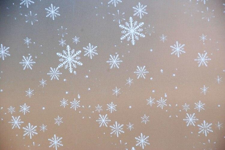 Película de vidrio esmerilado de privacidad, película grabada opaca teñida, tratamientos de baño para el hogar (ancho 45-75 cm) * largo 300cm copo de nieve