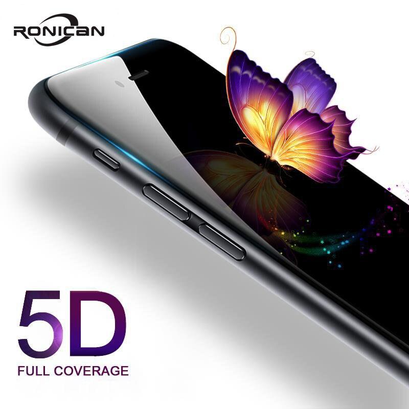 5D закаленное стекло для iphone 7 8 Plus, Защита экрана для iPhone 6 6s Plus, полное покрытие, пленка с закругленными краями для iPhone XS MAX XR