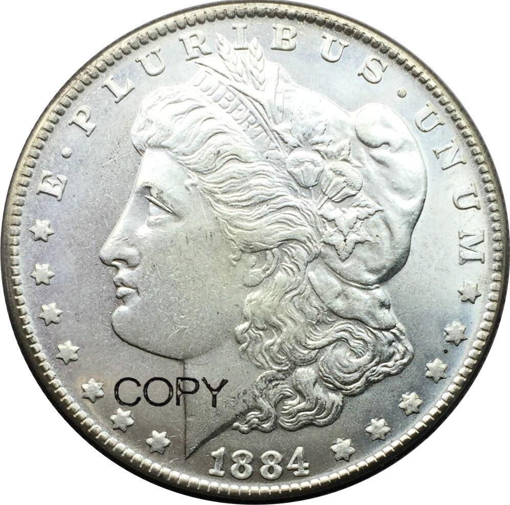 Los Estados Unidos moneda 1884 CC de un dólar con Morgan monedas réplica